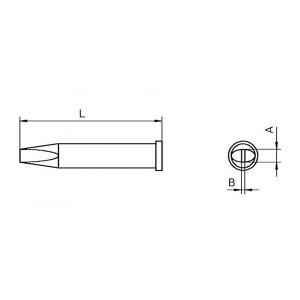 WELLER/威乐 XT C烙铁头 T0054470599 凿形3.2x0.8mm 1个