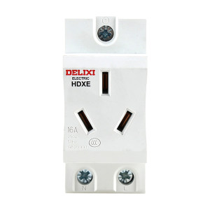 DELIXI/德力西 HDXE模数化插座 HDXE 插座 三插 16A TM 1个