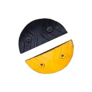 XIANGCHEN/襄辰 加宽橡胶减速带端头 JS005DT 黄色+黑色各1 单个尺寸190*380mm(±10mm) 2个 1付