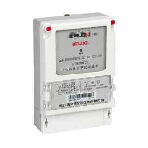DELIXI/德力西 DTS606系列三相四线电子式电能表 DTS606 3×220/380V 1.0级 3×1.5(6)A* 1个