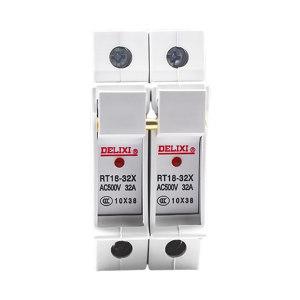 DELIXI/德力西 RT18系列熔断器(底座) RT18-32X 2P 座(白色) 1个