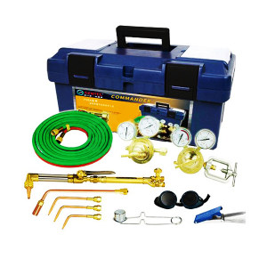 GENTEC/捷锐 氧气、乙炔中型焊接与切割成套工具(PE盒包装 带回火防止器) 1120A-FA 1组