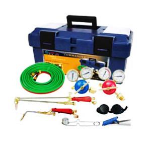 GENTEC/捷锐 氧气、乙炔轻巧型焊接与切割成套工具(PE盒包装 带回火防止器) 2110A-FA 1组
