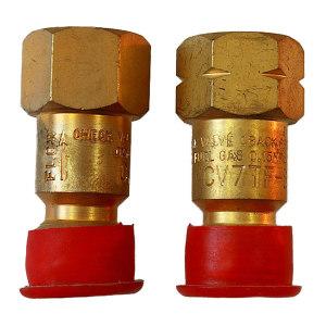 GENTEC/捷锐 防逆阀 氧气 CV7TO-C 进气M16-1.5RH(M) 出气9/16-18RH(F) 1个
