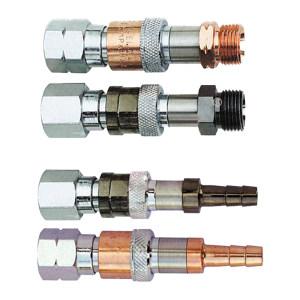 GENTEC/捷锐 防逆快速接头 氧气 RH25X 进气G3/8-RH(F) 出气G3/8-RH(M) 1个