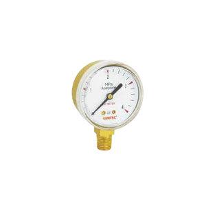 "GENTEC/捷锐 压力表2"",0.25MPa,1/4NPT,乙炔 径向 G20-0.25MA 不支持第三方送检 1个"