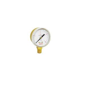 "GENTEC/捷锐 压力表2""铜壳 G20B-4MA 4MPa 1/4NPT 乙炔 不支持第三方送检 1个"