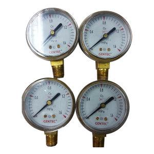 """GENTEC/捷锐 压力表2"""", 2.5MPa,1/4NPT,氧气 G20-2.5M-C 不支持第三方送检 1个"""