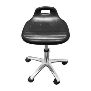 ANWENYING/安稳盈 防静电聚氨酯小弯背工作椅 EE0918 350×320×(350~500)mm 黑色 1把