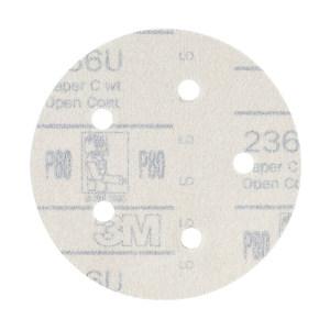 "3M 236U背绒砂碟(黄砂) 3M-R-236U-5I6H-320 5"" 6孔 320# 100片 1盒"