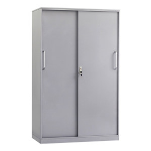 JIDA/集大 铁门移门文件柜 WH2-Y-14Y 900×450×1460mm 侧拉移门 3层板 银灰色 1台