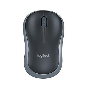 LOGITECH/罗技 鼠标 M186 黑色灰边 1个