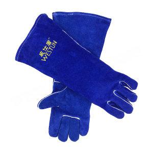 WESTUN/威仕盾 宝蓝色加长焊接手套 G-2054 均码 45cm 1副