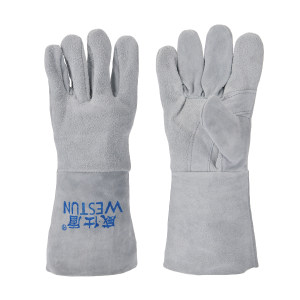 WESTUN/威仕盾 灰色单层加托焊接手套 G-2116T 均码 约34cm 1副
