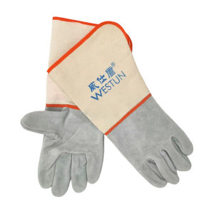 WESTUN/威仕盾 帆布袖焊接手套 G-9534 均码 38cm 1副