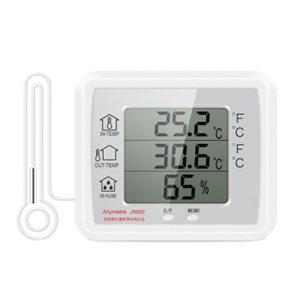 ANYMETRE/美德时 室内外电子温湿度计 JR900A 白色 1个