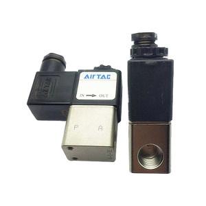 AIRTAC/亚德客 2V025系列流体控制阀 2V025-08B 2.5mm 内螺纹接口R1/4 黄铜阀体 公称压力15bar 线圈电压DC24V 1个