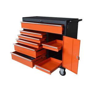 AIWIN 8抽带门可移动工具箱 TC4208A 1052×460×1030mm 内含8个抽屉 其中2个抽屉在1个开门柜中 1个