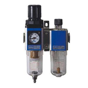 AIRTAC/亚德客 GFC200系列二联件 GFC20008F1 过滤精度40μm 压力范围0.15~0.9MPa 接口Rc1/4 差压排水式 附压力表 附支架 1套