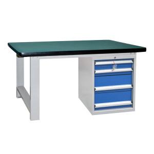 STORAGEMAID 四抽重型工作桌 HWS814 台面承载1000kg  1800L×750D×800Hmm(台面厚50mm) 灰色喷塑 1套