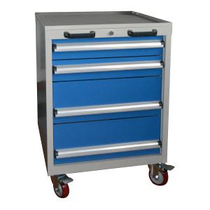 STORAGEMAID 四抽标准可移动工具车 HWS822 566×600×835mm 四抽屉 柜体灰色 抽屉蓝色 1套