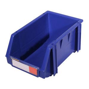 POWERKING/力王 组立背挂零件盒 PK-002蓝色 240×150×124mm 蓝色(含1张标签纸 1个透明标签牌 4根立柱) 1个