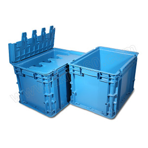 POWERKING/力王 C型第二代周转箱 PK-C2(带盖)蓝色 外尺寸400×300×280mm 内尺寸355×260×260mm 蓝色 1个
