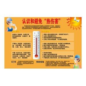 """SAFEWARE/安赛瑞 安全教育挂图(认识和避免""""热伤害"""") 30425 500*750mm 1张"""