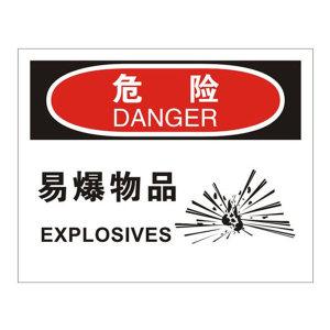 SAFEWARE/安赛瑞 OSHA安全标识(危险 易爆物品) 31221 250*315mm 高性能不干胶 1张