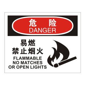 SAFEWARE/安赛瑞 OSHA安全标识(危险 易燃禁止烟火) 31222 250*315mm 高性能不干胶 1张
