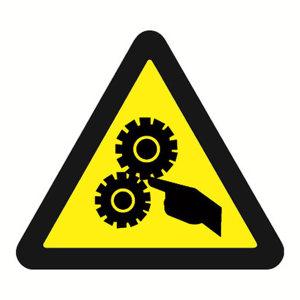 SAFEWARE/安赛瑞 GB安全警示标签(当心机械伤人) 32812 边长100mm 1包