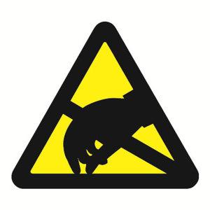 SAFEWARE/安赛瑞 GB安全警示标签(当心静电) 32820 边长100mm 1包