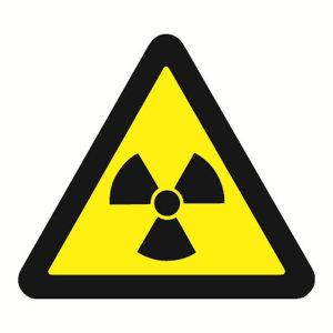 SAFEWARE/安赛瑞 GB安全警示标签(当心电离辐射) 32824 边长100mm 1包