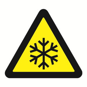 SAFEWARE/安赛瑞 GB安全警示标签(当心低温) 32830 边长100mm 1包