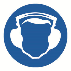 SAFEWARE/安赛瑞 GB安全警示标签(必须戴护耳器) 32833 Φ100mm 1包