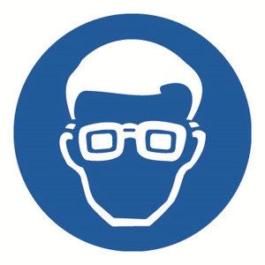 SAFEWARE/安赛瑞 GB安全警示标签(必须戴防护眼镜) 32836 Φ100mm 1包