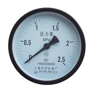 TC/天川 普通不锈钢压力表(轴向 不带边) Y40/0-0.25MPA/G1/8 普通不锈钢/不耐震/不带边/2.5级 1个