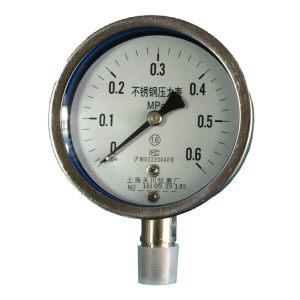 TC/天川 普通不锈钢压力表(径向 不带边) Y60/0-0.1MPA/G1/4 普通不锈钢/不耐震/不带边/2.5级 1个