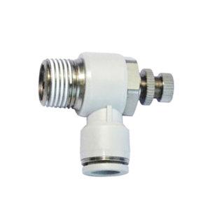AIRTAC/亚德客 PSL系列L型调速阀 PSL801A 弯型 快插接口8mm-外螺纹Rc1/8 1个