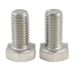 TONG/东明 DIN933 六角头全牙螺栓 不锈钢316 A4-70 本色 全牙 224933008007000000 M8×70 100个 1盒