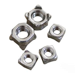TONG/东明 四方焊接螺母 304 本色 M4 DIN928 1盒