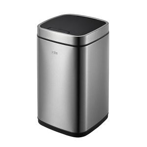 EKO 臻美带内桶感应环境桶 EK9288MT-12L 24×24×43cm 12L 砂钢 1个