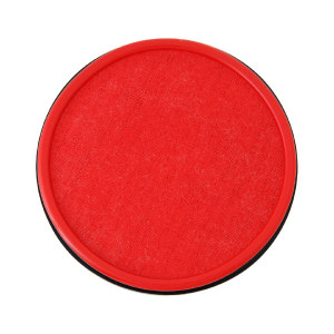 DELI/得力 快干印台 9860 直径100mm 红色 1只