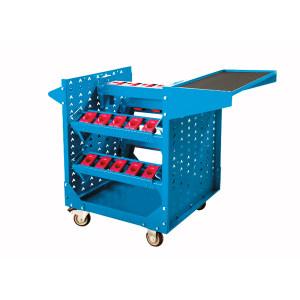 XG/信高 敞开式蓝色刀具推车 DJC-HSK63 外形尺寸1060×600×880mm HSK63×25 天蓝色RAL5015 1台