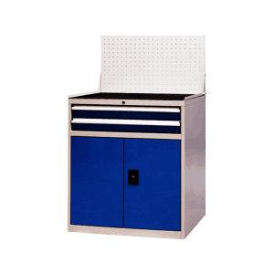 XG/信高 2抽屉工作柜配挂板 XE90-2SMG(D) 外形尺寸881×580×1000mm 挂板高度502mm 抽屉天空蓝色RAL5015 柜体工业灰色RAL7035 1个
