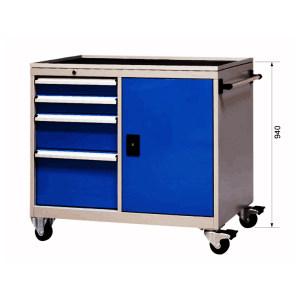 XG/信高 4抽屉工具车 XB70-4SMC. 外形尺寸1103×580×940mm 抽屉天蓝色RAL5015 柜体工业灰色RAL7035 1个