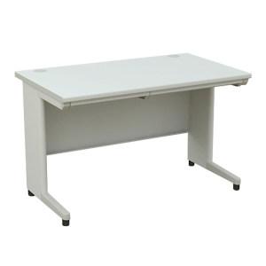 XG/信高 钢制办公桌 B-127C-D 尺寸1200×700×740mm 无屏风 灰色桌面 有线槽 1张