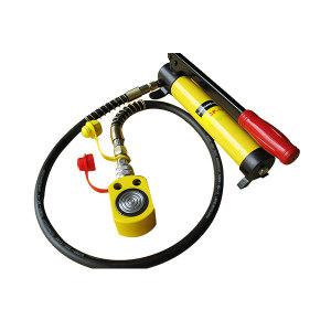 QZ/起泽 超薄型液压千斤顶 FPY-50(含HHB-700C泵) 载荷50t 最低高度77mm 行程18mm 配手动泵 1套