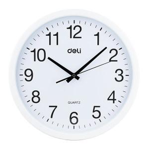 DELI/得力 圆型挂钟 9006 直径370mm 白色 1只