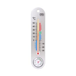 DELI/得力 室内温湿度计(银色) 9013 1只